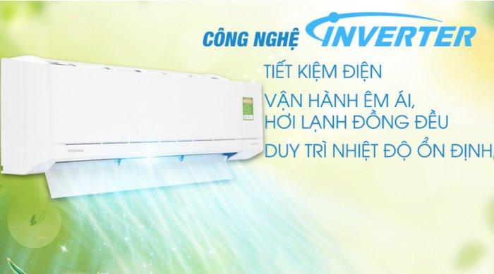 cong nghe inverter may lanh toshiba